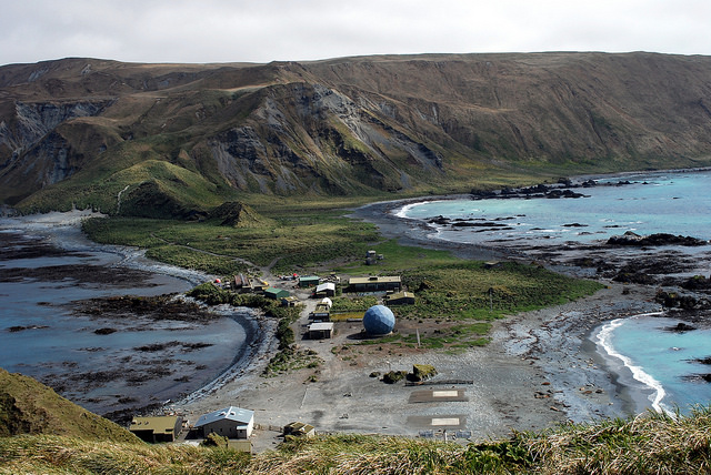 Macquarie island base camp
