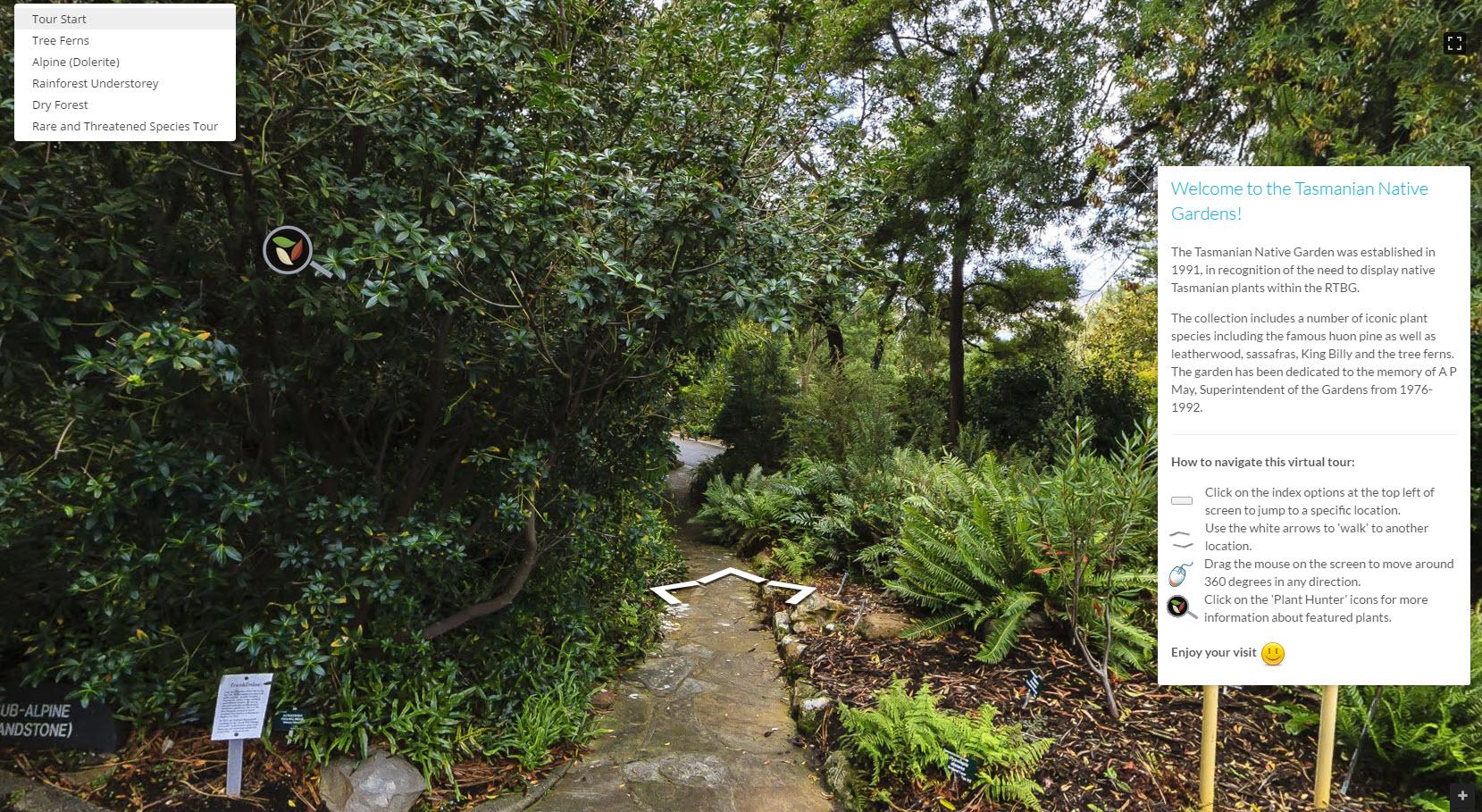 Virtual Garden entrance