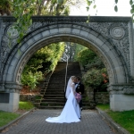 Anniversary Arch with wedding couple