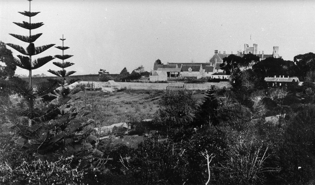 image of Gov house circ 1870s from upper Domain hill