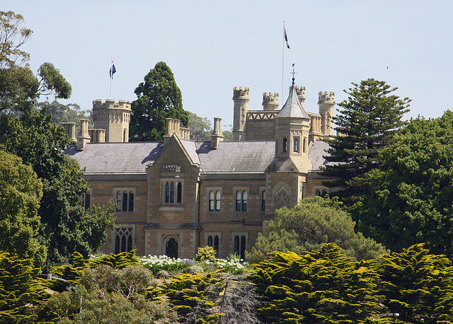 image Government House Hobart framed by trees