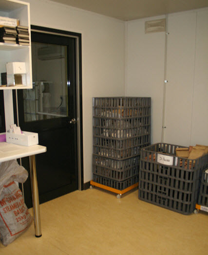 Seed collections in the TSCC drying room