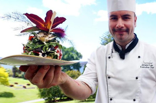 Succulent restaurant executive chef Johann Frais- MATTHEW THOMPSON article by GRAEME PHILLIPS Mercury November 29