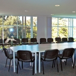 Training room or Riverview room in the visitors centre set up for a board meeting