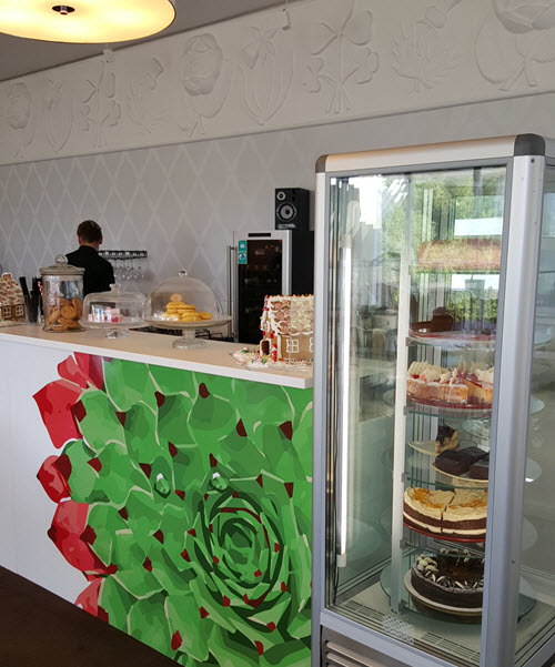 image of front counter with cakes