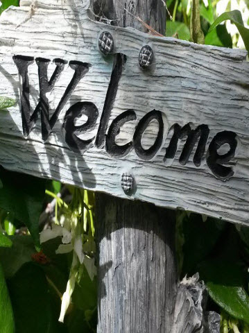 Welcome sign image