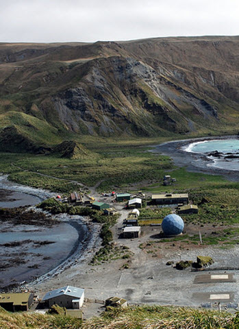 View of station Macquarie Island