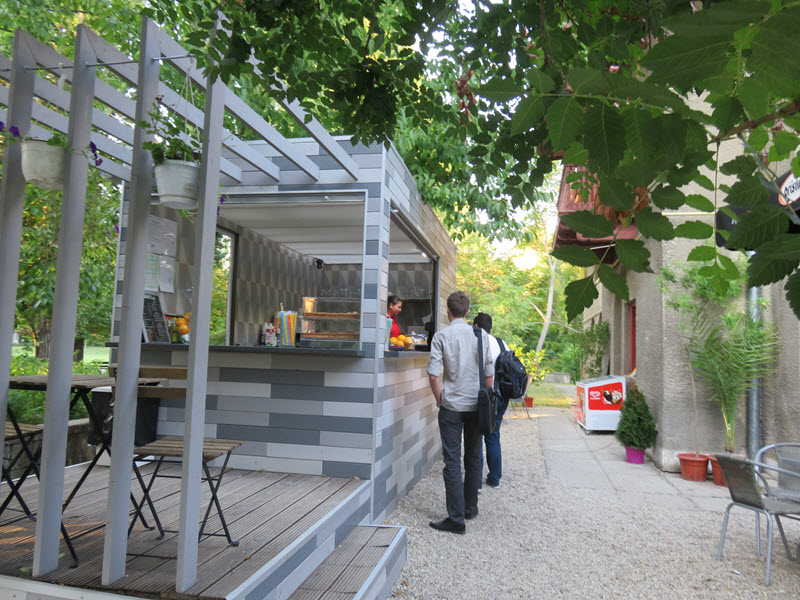 Cafe in the Bucharest Botanical Gardens