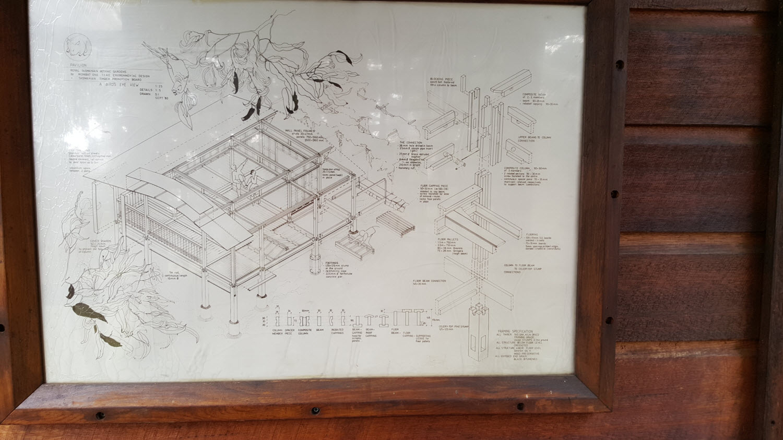 Plan and design detail on inside of door Wombat One