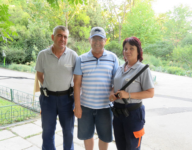 Rob Cockerell and security staff friends from the Gardens