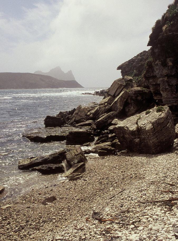 Where the white cliffs tumble into the sea