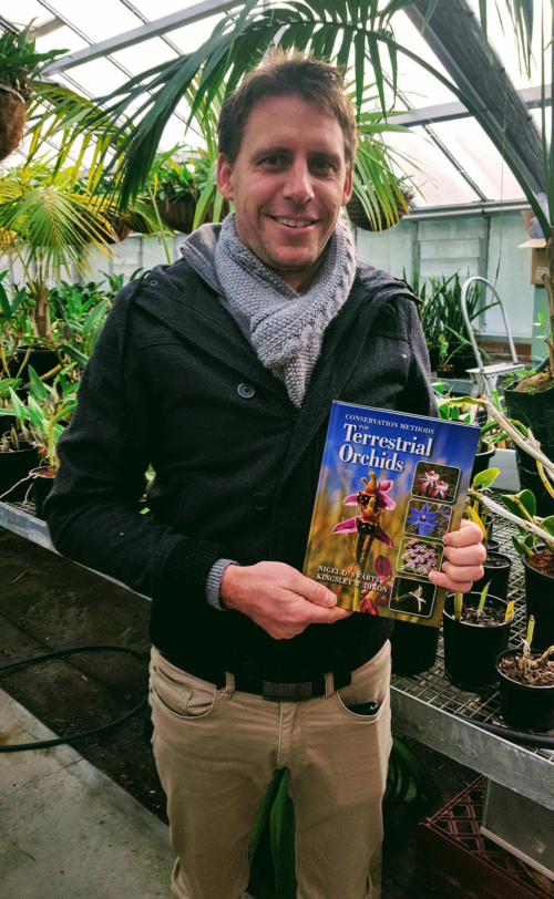 Nigel with new orchid book 2017