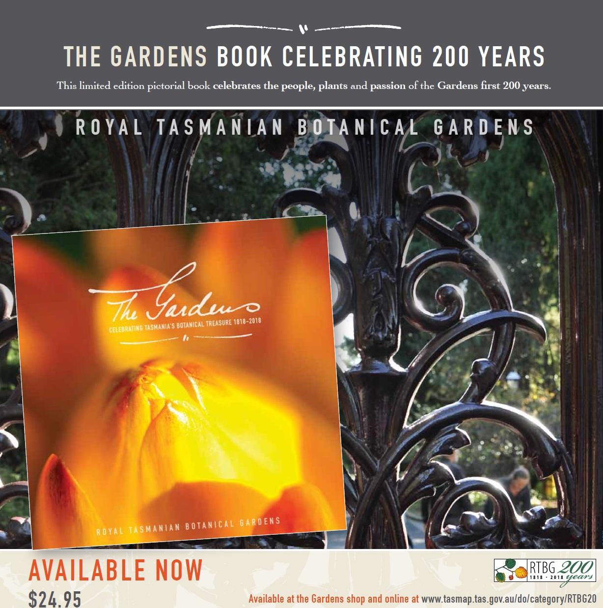Gardens bicentennial book button